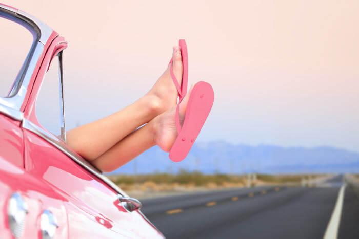Flip flops car
